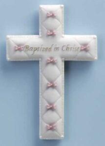 "Baptism Wall Cross for Girls 6.5""H"