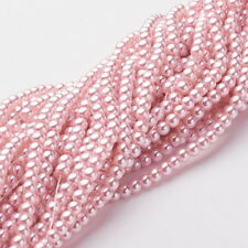 Strand 215+ 4mm Pink Lavender Glass Pearl Plain Round Beads UK