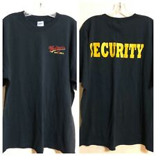 Hooligan's Bar & Grill Security Black T Shirt Men's XL Embroidered