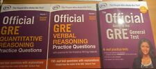 ALL 3 BOOKS - UNUSED !! Official GRE Super Power Pack by ETS
