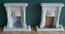 dolls house fireplace mantel 1/12 scale miniature detailed new pair