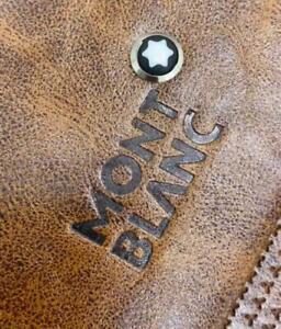 MontBlanc Meisterstuck Tan Brown Leather Laptop Bag for Office shoulder bag