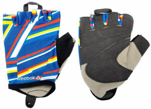 Reebok Striped Women's Fitness Gloves Ladies Exercise Gym Workout with Ring Pull