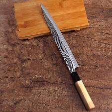 Sushi Knife Sashimi Filet Fish Slice Tuna Salmon Nigiri Japanese Wood Chef Blade