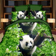 3D Big Panda Duvet Cover Sheet Bed Linen Pillowcase Bedding Set Double Queen