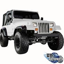 """87-95 Jeep Wrangler YJ Front+Rear Fender Flares 6"""" Wide Body Black Pocket Rivet"""