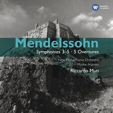 Riccardo Muti - Mendelssohn: Symphony 3-5 - 5 Overtures (NEW 2CD)