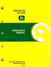 John Deere 1860 No Till Air Drill Operators Manual New Jd