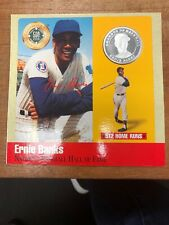 1990 Legends Of Baseball Ernie Banks Chicago Cubs Pure Silver Coin