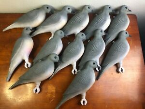 Lot of 12 Flambeau Dove Mourning Decoy Hard Plastic MADE in USA BT4