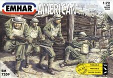 Emhar 1 72 WWI American Doughboys Infantry 7209 Plastic Toy Soldiers 50 Psc New