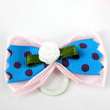 PALE PINK DOG HAIR GROOMING BOWS PACK OF 2 YORKSHIRE TERRIER P5