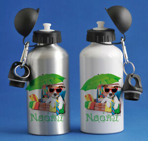 Personalised Kids/Drinks/Sports Childrens Water Bottle - Cool Dog
