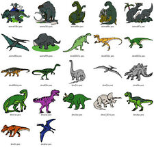 DINOS, FISH, & FROGS COLL-MACHINE EMBROIDERY DESIGNS