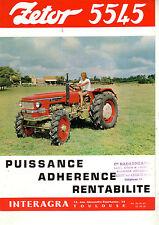 Prospectus  Tracteur  ZETOR   5545   Non daté  brochure catalogue tractor