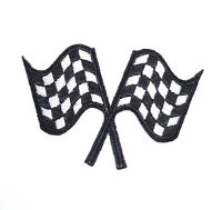 Hot Rod patch Racing Flags Badge Drag Race Classic Car Mechanic Jacket