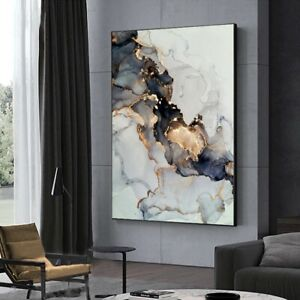 Abstract Gold Dark Canvas Poster Wall Art Painting Poster Print Home Room Decor