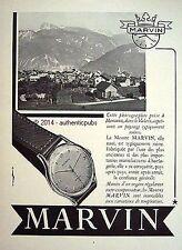 PUBLICITE MARVIN MONTRE PAYSAGE SUISSE MONTANA LE VALAIS DE 1951 FRENCH AD PUB