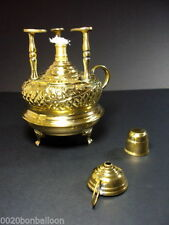 decorated coffee maker table top alcohol burner brass engraved handmade new !