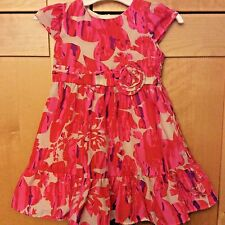DKNY Toddler Girl Pink & White Floral Polyester Dressy Party Dress 18M