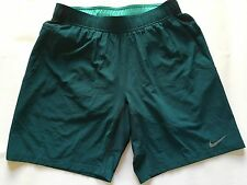 "Nike Men Dri-Fit Gladiator 2-In-1 Nine Inch Tennis Shorts 9"" Hunter Green"
