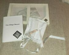 LOT OF 6 MAGIC BONNETS CHRISTENING BAPTISM DONEGAL IRISH LINEN HEIRLOOM LOOK!