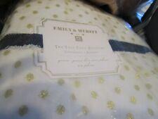 """Pottery Barn Teen Emily & Meritt Gold Tulle Bed Skirt bedskirt 16"""" drop Queen"""