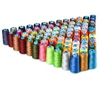 30 Spools Mixed Colors 100% Polyester Sewing Quilting Threads Set All Purpose&