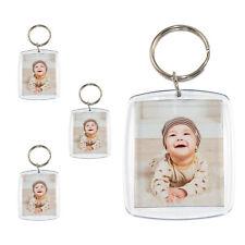 Acryl Foto Anhänger Schlüsselanhänger mit Schlüsselring für Passbild 1-100 Stück