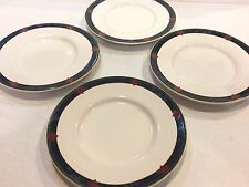 AMALFI CLASSIC PFALTZGRAFF  SAUCERS BY PAT FARRELL.  SET OF (4) EXCELLENT