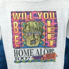 New listing Trashed vtg 90s Home Alone Movie Parody Jesus Distressed Paper Thin T-Shirt L