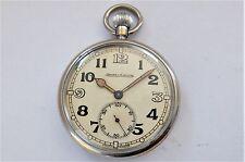 Anni 1940 JAEGER LeCOULTRE Militare 15 Gioiello Orologio da taschino LEVA Svizzera Lavoro