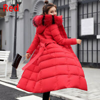 Fashion Thickening Down Jacket Coat Cotton-Padded Winter Plus Size Long Women
