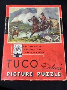 Vintage Tuco Deluxe Puzzle The Forest Fire VTG 16 X 20 Inches Vintage