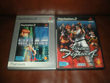 LOT 2 JEUX PS2 : DEAD OR ALIVE 2 + VIRTUA FIGHTER 4 - COMPLETS - EN FRANCAIS
