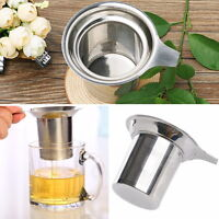 Reusable Loose Mesh Tea Infuser Strainer Tea Leaf Spice Filter Stainless Steel