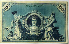 100 Einhundert Mark 1908 grün  Ro34  Deutsches Reich (35)
