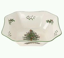 NWT Spode 9.5 Inch Square Christmas Tree Bowl MSRP $180.00