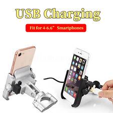 Alu Motorrad Handy Halter Smartphone Halterung USB Ladegerät Port für iPhone Xs