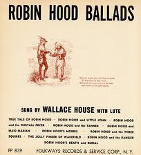 Wallace House - Robin Hood Ballads [New CD]