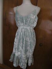 Anthropologie Hemant&Nandita womens green rayon evening lined dress size SP NWT