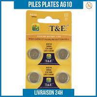 Piles Plate bouton 1,5V Alcaline AG10 LR1130 0% Mercure