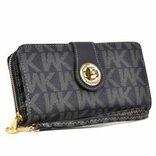 New Womens Faux Leather WK Wallet Checkbook Card Coin Phone Holder Bags