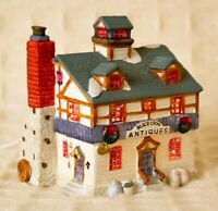 Lemax DICKENSVALE Village ANTIQUES STORE 1993 Porcelain Christmas LIGHTED HOUSE