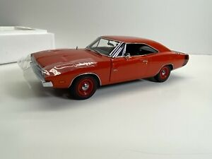 Danbury Mint 1:24 Limited Edition 1969 Dodge Charger 500 Hemi Orange New NoRes