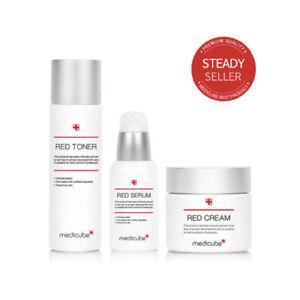 MEDICUBE Red Line Toner & Serum & Cream Triple Set for Acne Sensitive Skin Korea