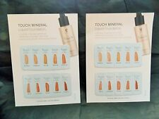 SPECIAL 2 Younique TOUCH MINERAL LIQUID FOUNDATION Sample Cards Try B4 you buy