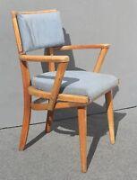 Vintage Danish Mid Century Modern Blue Accent Chair