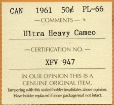 * ICCS PL-66 PL66 1951 Canada Silver Proof Like 50 Cents ULTRA Heavy Cameo UHC *