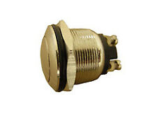 Momentary Press Button Switch 20A 12V Chrome Plated Brass Metal Switch NEW